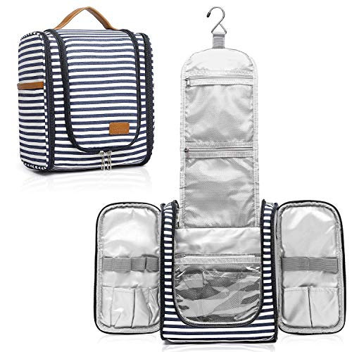 Hanging Travel Toiletry Bag for Women,Travel Wash Bag Large Makeup Organizer with 21 Compartments Waterproof Shower Bag for Bathroom Accessories