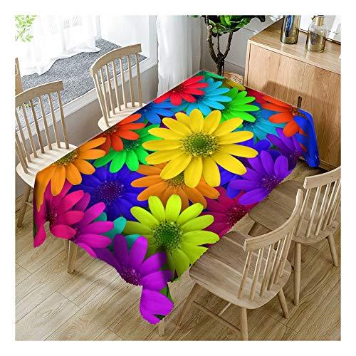 ZHAOXIANGXIANG Polyester Imprimé Numérique Tableau Étanche Mat Motif Floral Créatif Et Artistique Décoration Cirée,90Cm×130Cm