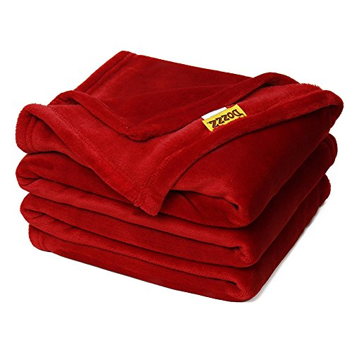 Why Choose DOZZZ Oversize Flannel Throw Blanket with Cozy Plush Soft Cover for Sofa Chair and Bed Fu...