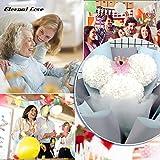 VINFUTUR 200 Stücke Schaumrosen Künstliche Rosenköpfe Mini Foamrosen Kunstrosen für DIY Rosen Bär Valentinstag Hochzeit Party Home Deko - 3