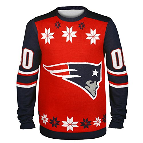 NFL New England Patriots JERSEY Ugly Sweater, X-Large