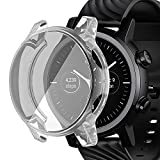 FitTurn Compatible with Moto 360 3rd Gen Screen Protector Case Cover Replacement All- Around Metal Color TPU Bumper Cover Screen Protector Case Cover Compatible for Moto 360 3rd Gen Smartwatch (Clear)