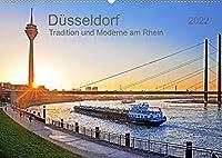 Duesseldorf - Tradition und Moderne am Rhein (Wandkalender 2022 DIN A2 quer): Die Mode- und Handelstadt mit Flair (Monatskalender, 14 Seiten )
