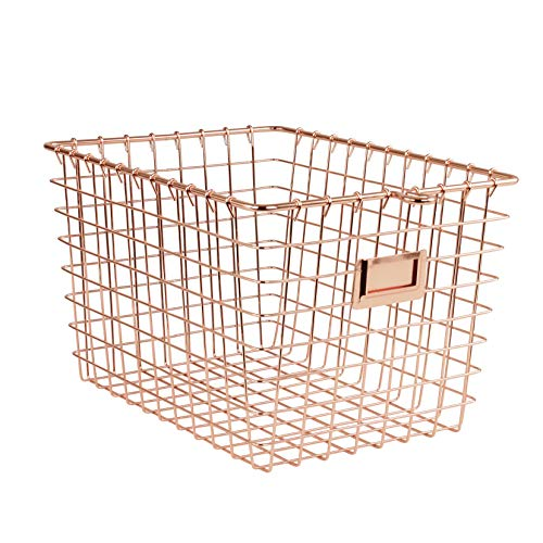 Spectrum Diversified Wire Storage Basket Small Copper
