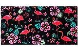 Pink Flamingo Hibiscus Beach/Shower Towel