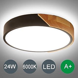 Kambo LED Lámpara de Techo Moderna Plafon Techo de Led 24W Redondo Para Techo 2400LM Blanco Frío 6000K Para Habitacion Cocina Sala de Estar Dormitorio Pasillo Comedor Balcón
