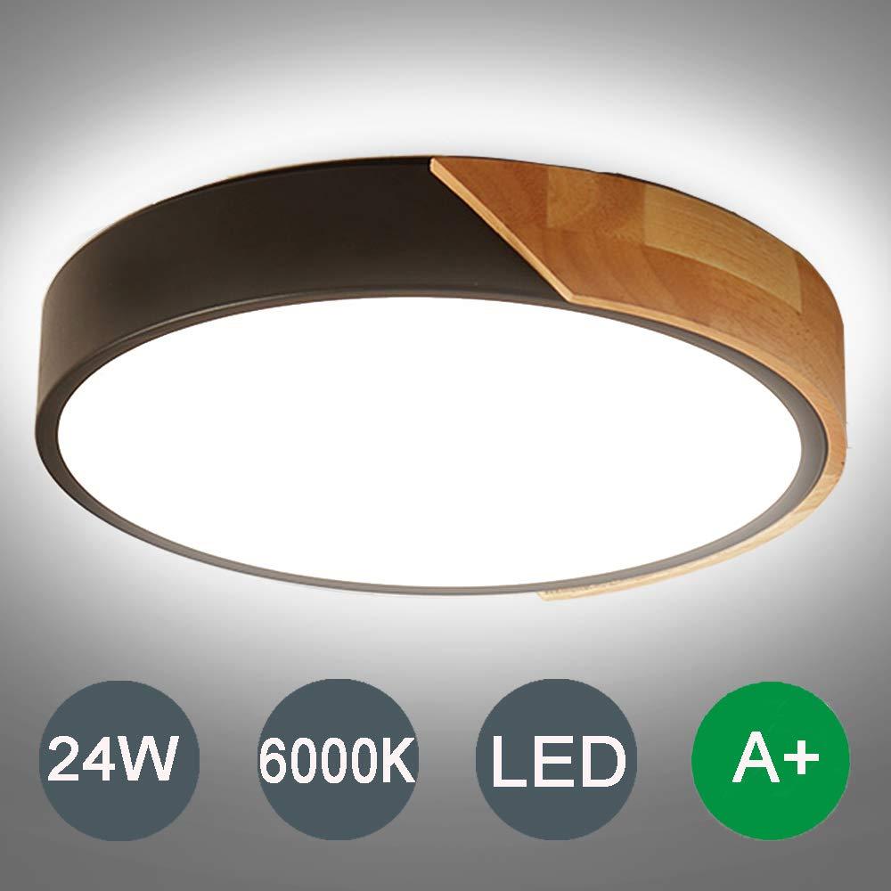 Kambo LED Lámpara de Techo Moderna Plafon Techo de Led 24W Redondo Para Techo 2400LM Blanco Frío 6000K Ceiling Light Para Habitacion Cocina Sala de Estar Dormitorio Pasillo Comedor Balcón: Amazon.es: Iluminación