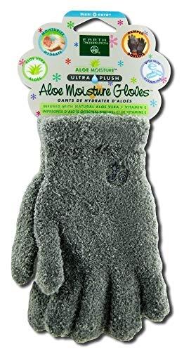 Earth Therapeutics: Aloe Infused Moisture Gloves, Gray