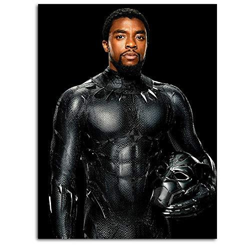 Poster retrò senza cornice, motivo DRAGON VINES Black Panther Chadwick Boseman, stampa 3D, per soggiorno, supereroe Infinity War Avengers Comic King Cold Blooded 50,8 x 71,1 cm