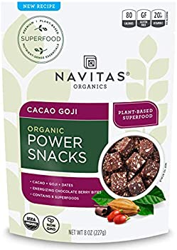 Navitas Organics Superfood Power Snacks, Cacao Goji, 8 oz. Bag