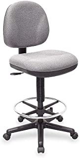 Lorell Adjustable Multi-Task Stool, 24 by 24 by 40-1/2 by 50-1/2-Inch, Gray