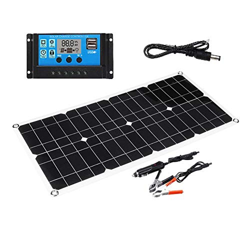 Find Bargain Per Dual USB 40W Solar Panel with 10A Solar Panel for Car Yacht RV Lamp Charging Jump S...