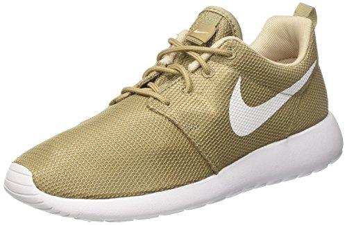 Nike Roshe Run, Sneakers Basses Homme, Vert Khaki White Oatmeal White, 42.5 EU