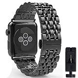 VIKATech Ersatzarmband kompatibel mit Apple Watch Armband 44mm 42mm | Edelstahl Armband | Smartwatch...