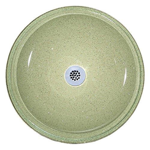 Xylem RVE165 Reflex Round Glass Vessel Sink - Dark Stone