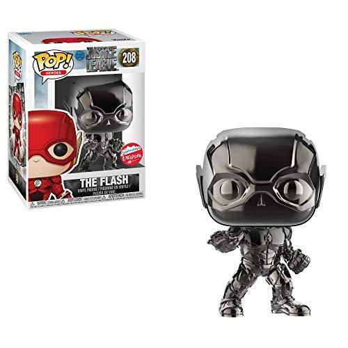 The Flash Black Chrome Funko Pop! Dc Comics Liga Da Justiça Colecione Express