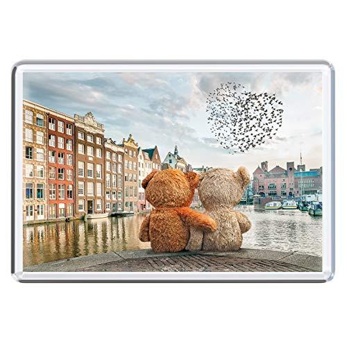 stadtecken magneten 10x7cm +++ Amsterdam motieven: Friends I Holland Nederland | koelkastmagneten I Leven & Momenten grappig I Whiteboard I Souvenir I Gift I Geschenkidee