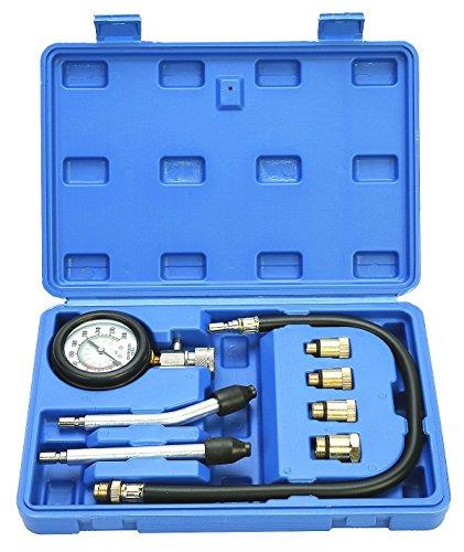 FreeTec Kompressionstester KFZ Kompressionsprüfer 0-20 bar oder 0-300 psi Verdichtungsmesser