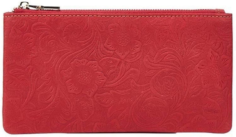 Girls Purse Women's Wallet,Female Head Layer Purse Lady's Large Zip Around Wallet
