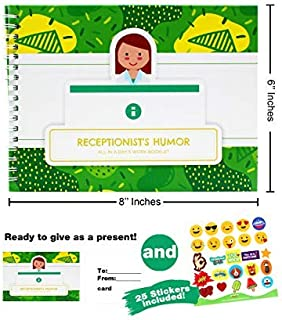 Receptionist Gifts - Personalizable Humor Booklet with Matching Card to Say Thank You to Your Favorite Receptionist Or Front Desk Assistant - Easy-to-Fill and Thoughtful Gift Ideas. Funny Office Gifts