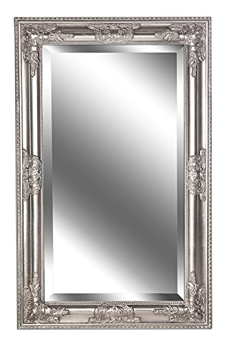 B.U.S. Wohnstyle Spiegel Wandspiegel Kim antik Silber Barock 80 x 50 cm