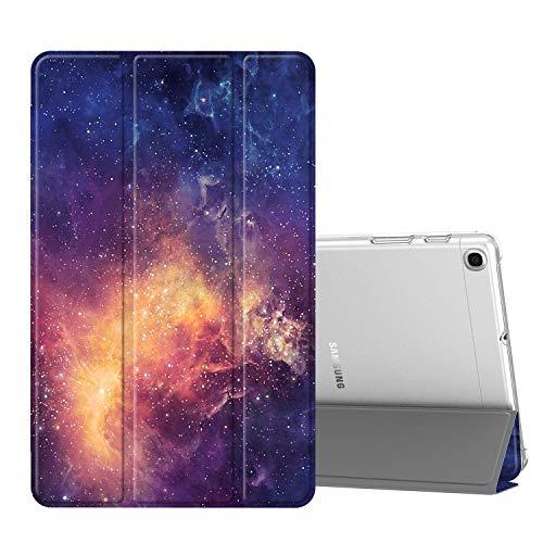 Fintie Hülle für Samsung Galaxy Tab A 10,1 SM-T510/T515 2019 - Ultradünn Schutzhülle mit transparenter Rückseite Abdeckung Cover für Samsung Galaxy Tab A 10.1 Zoll 2019 Tablet, Die Galaxie