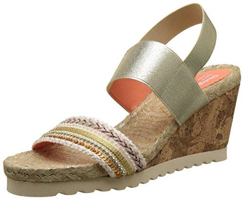 Desigual Ibiza Bling, Heels Sandals para Mujer, Beige (Beige 1024), 40 EU