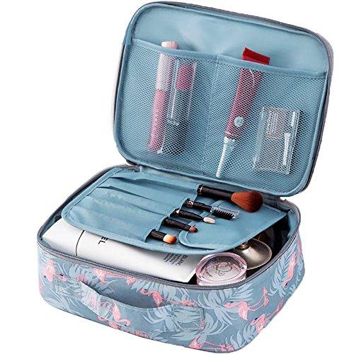 Trousse de Toilette Sac de Rangement Portable Cosmétique Sac Rangement Maquillage Cas Trousse de Toilette Femme Voyage Rangement Transport Valise Sac Organisateur