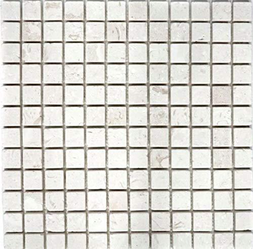 Mosaik Fliese Kalkstein Naturstein weiß Colonial Limestone MOS29-49023