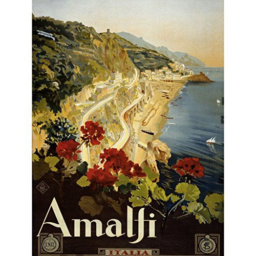 Coast of Amalfi Vintage Travel Art