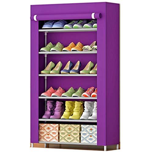 Jianghuayunchuanri Zapatero de pie con 6 capas para zapatero con 18 pares de almacenamiento no tejido, encuentra fácilmente tus propios zapatos (color: A3, tamaño: 60 x 30 x 108 cm)