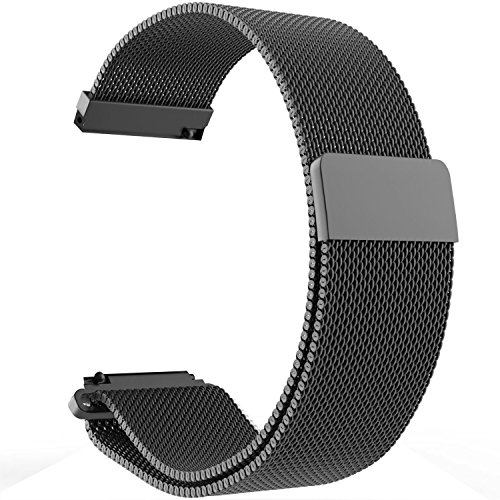 Pulseira de Metal Milanese 22mm para Amazfit Pace, Stratos, Pebble Time/Time Steel,Samsung Gear S3 Classic Frontier,LG G Watch,ASUS ZenWatch WI500 WI501 1.63,Moto 360 2 (46mm) Smartwatch Aço Inoxidável