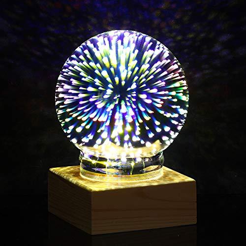 LaDicha Stem Actualización De La Bola De Plasma De La Esfera De La Luz De Cristal Magic Crystal Desk Lámpara Globe Laptop Decor