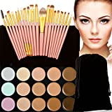 FantasyDay Professional 15 Colors Contour Kit Highlighting Face Cream Concealer Camouflage Makeup Palette + 20 Pieces Makeup Brush Set Make Up Tools #8