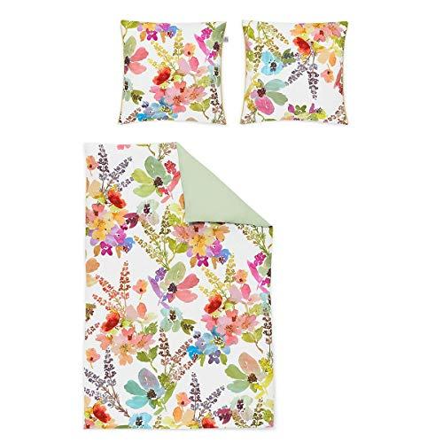 Irisette Mako-Satin Bettwäsche Juwel K Swindon bunt 1 Bettbezug 155 x 220 cm + 1 Kissenbezug 80 x 80 cm