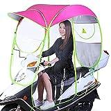 ZZZQCYP Paraguas Impermeable Completamente Cerrado para Bicicleta eléctrica, Parasol Plegable Universal para Motocicleta con ventilación Trasera