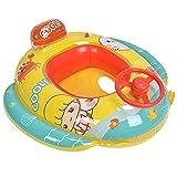 Gmkjh Flotador de natación para bebés, Flotador de Anillo de natación Inflable para bebés con Volante para Accesorios de Piscina para niños de 1 a 6 años