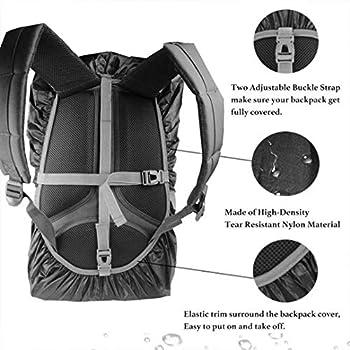 Housse de Pluie pour Sac à Dos étanche (15-80L) Triple imperméabilisation avec Sangle de Boucle Anti-dérapante réglable et résistant à l'usure et Durable pour l'extérieur, la randonnée, Le Camping