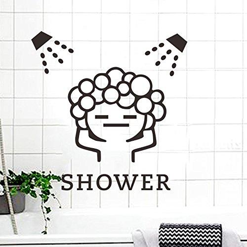 SPFOZ Haus Dekoration Badezimmer Washroom Blase Dusche Wohnkultur Aufkleber Wandwandaufkleber Türdekor (Color : 3169)