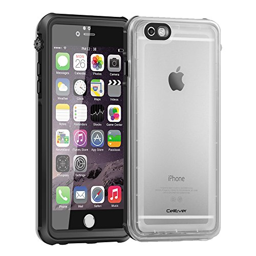 CellEver Compatible with iPhone 7/8 Case Waterproof Shockproof IP68 Certified SandProof Snowproof Full Body Protective Cover Designed for iPhone 7 and iPhone 8 (4.7 Inch) - Clear Black
