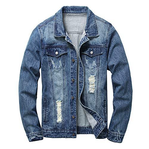 Denim Jacket Mens Slim Fit