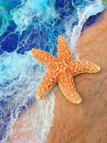 Ginfonr 5D Diamond Painting Diamante Pintura Estrella de mar en la playa Por Kits Numéricos Pintura De Taladro Completo Con Decoración De Pared De Diamantes Art 30 * 40 cm