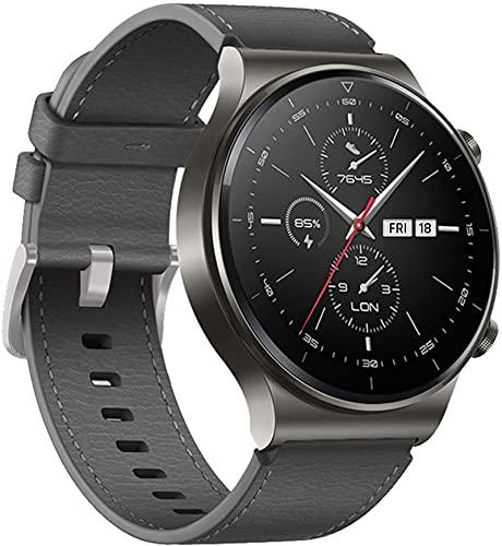 JWTPRO Cinturino per Huawei Watch GT / GT2 / GT2 PRO/Samsung Galaxy Watch, Cinturino per Orologio in Morbida Pelle Leggera da 22 mm per Uomo e Donna (Grigio)
