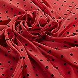 Hadson Craft CREPE0013 Polka Dots 100% reine bedruckte