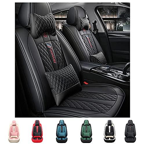 Maiqiken Fundas para asientos delanteros de lujo de 2 plazas para Mercedes-Benz GLS, piel sintética para asiento delantero de coche, antideslizantes, color negro