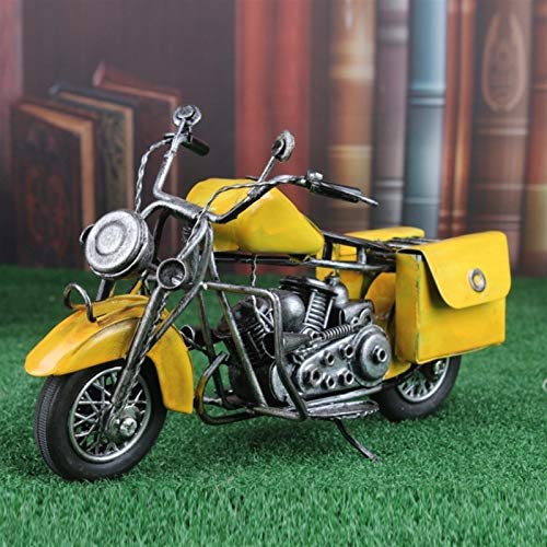 Slreeo Retro Vintage Tin Car Motorcycle Model Harley Motorcycle Store Decoration Desktop Ornaments Children's Toys Simulation Exquisite for Children