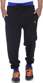 VIMAL Jonney Men's Black Cotton Trackpants-D9BLACKTURQ-P