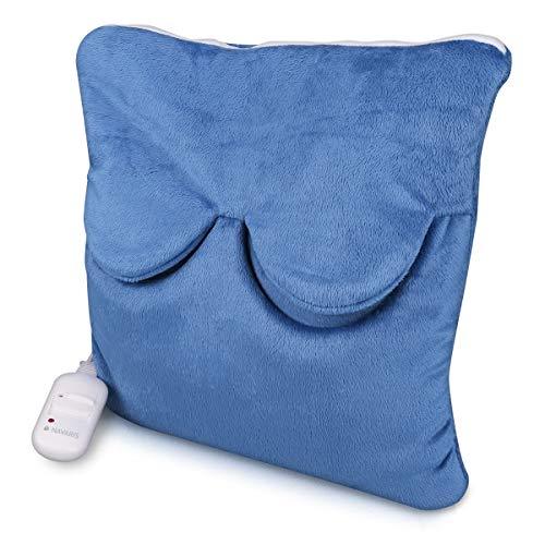 Navaris Cuscino termico Scaldapiedi elettrico - Termoforo 2 livelli temperatura 45W - Cuscinetto riscaldante Scalda piedi mani spalle schiena - blu