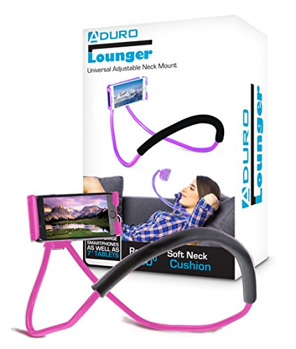 Aduro Phone Neck Holder, Gooseneck Lazy Neck Phone Mount to Free Your Hands for iPhone Android Smartphone