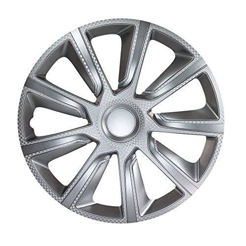 Veron Carbon Radzierblenden/Radkappen für Auto, 35,6 cm (14 Zoll), 38,1 cm (14 Zoll), 4er-Set